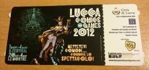 biglietti lucca comics 2012