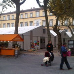 Piazza Napoleone, padiglioni area comics