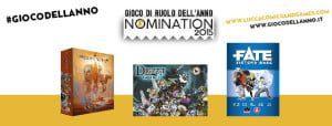 contest Gioco di ruolo dell'anno (GDR) Nomination Lucca comics 2015