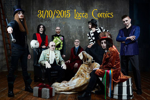 THE SPLEEN ORCHESTRA in TIM BURTON SHOW lucca comics