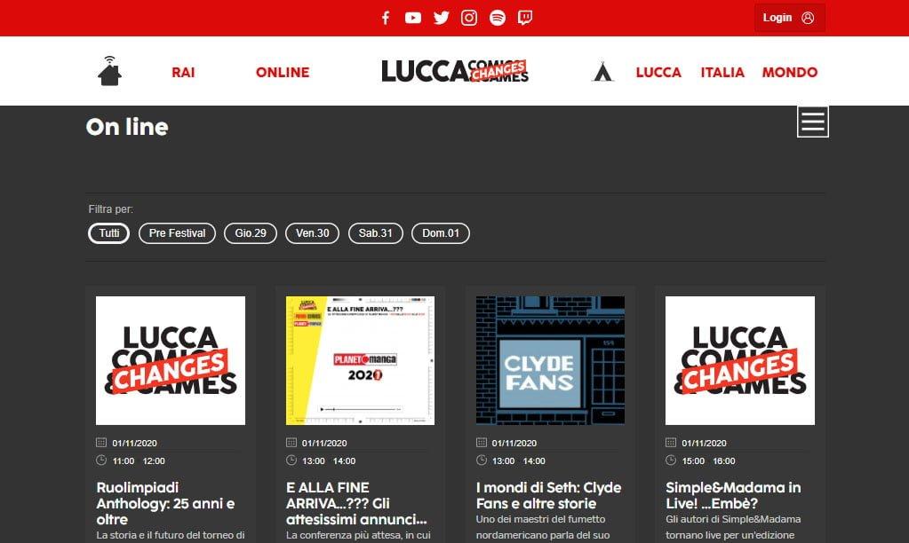 Lucca Changes - programmazone online